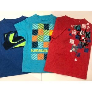 QUICKSILVER boys 3 pack of graphic tees